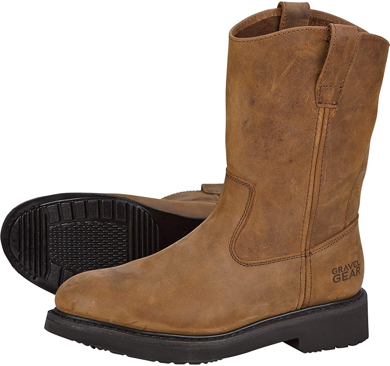 Gravel Gear Men's 10in. Western Wellington Work Boots - Brown, Size