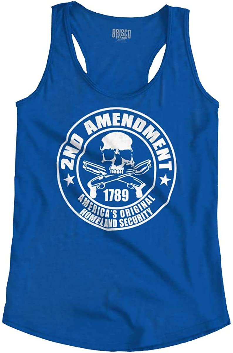 2nd Amendment Americas Homeland Security Racerback Tank Top