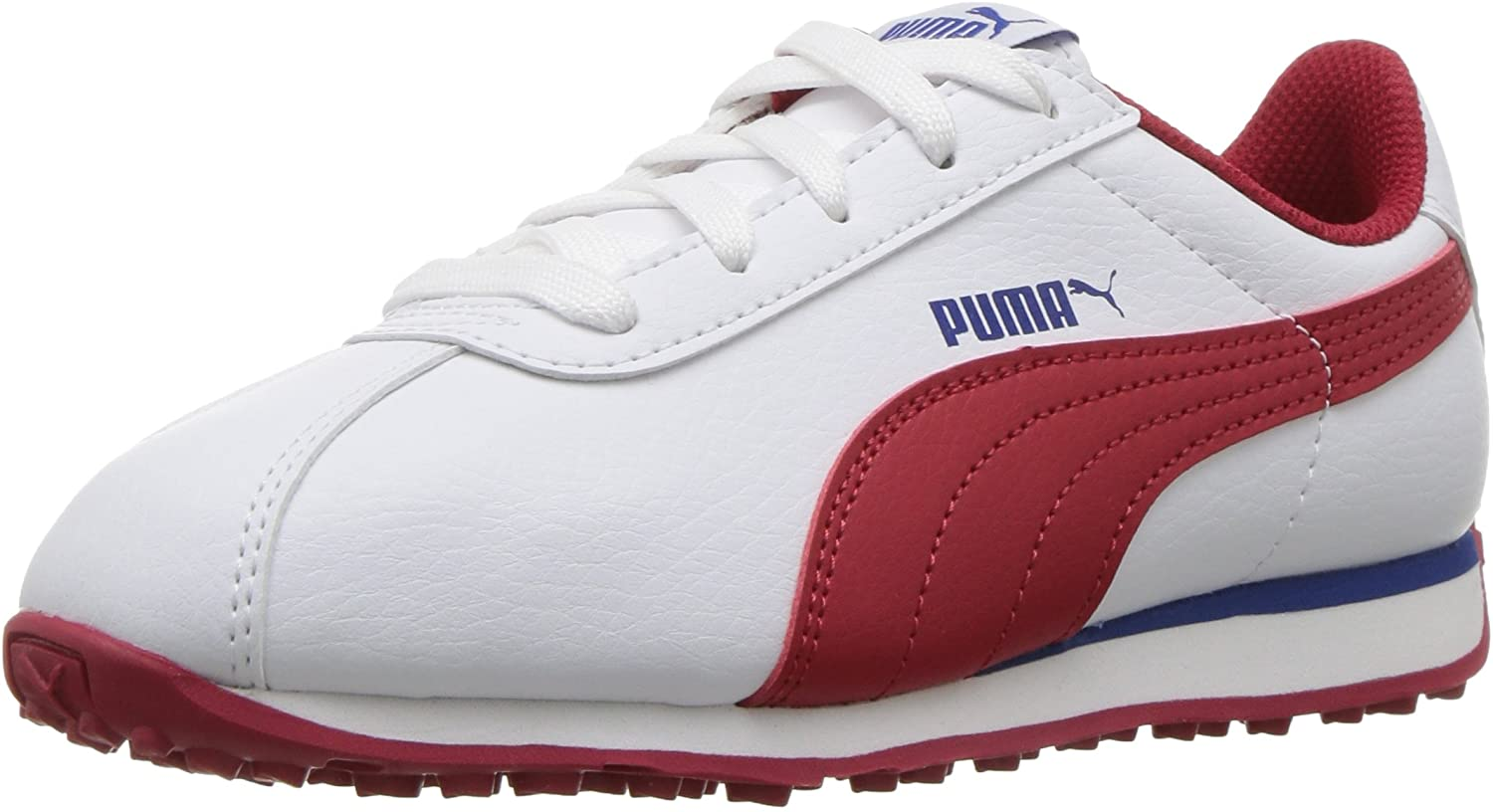 PUMA Kids Turin Sneaker, White-Barbados, 1.5 M US Little Kid