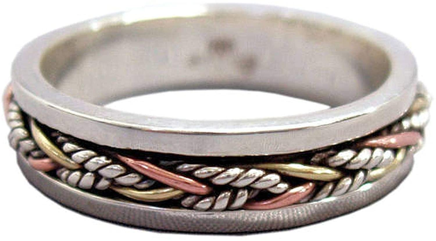 JewelsExporter Sterling Silver Ring.Spinner Ring, Meditation Ring, Spin-Pray Ring6us