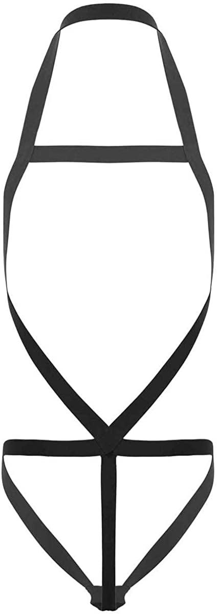 TiaoBug Men's Strong Nylon Body Chest Harness Elastic Shoulder Strap Bodysuit Lingerie
