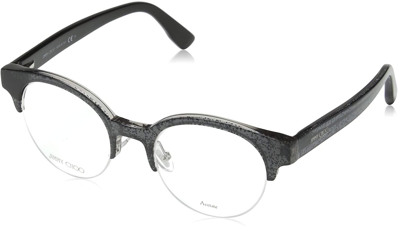 Jimmy Choo Jimmy Choo 151 0RBY Black Glitter Eyeglasses