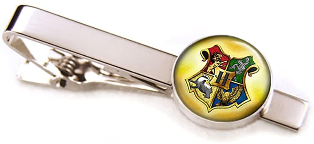 SharedImagination Harry Potter Cufflinks, Hogwarts Tie Clip, Hogwarts Crest Jewelry, Nine and Three Quarters Cuff Links, Harry Potter Wedding Gifts