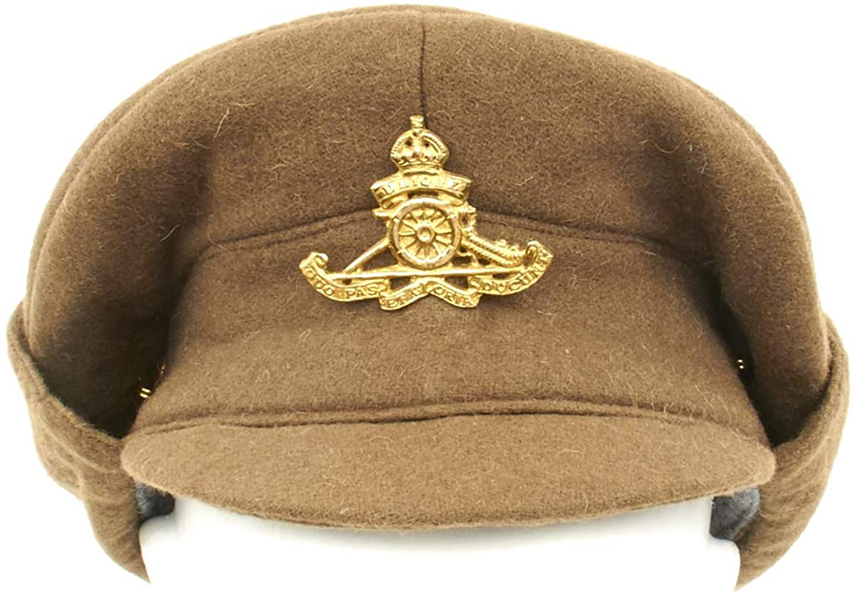 British WWI Gor Blimey 1915 Winter Forage Trench Wool Cap- Size US 7 3/4 (62cm)