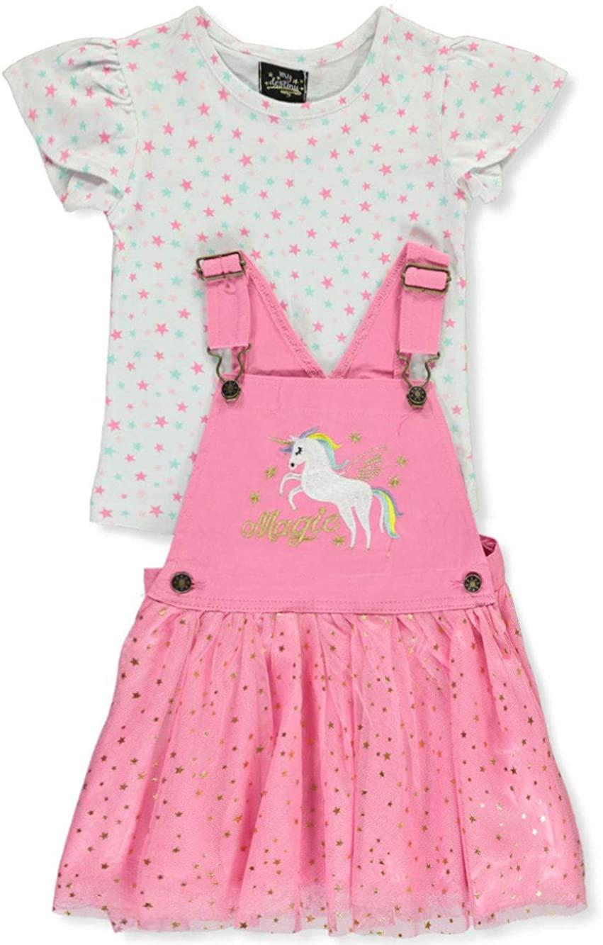 My Destiny Girls' Unicorn Tutu 2-Piece Skirt Jumper Set Outfit