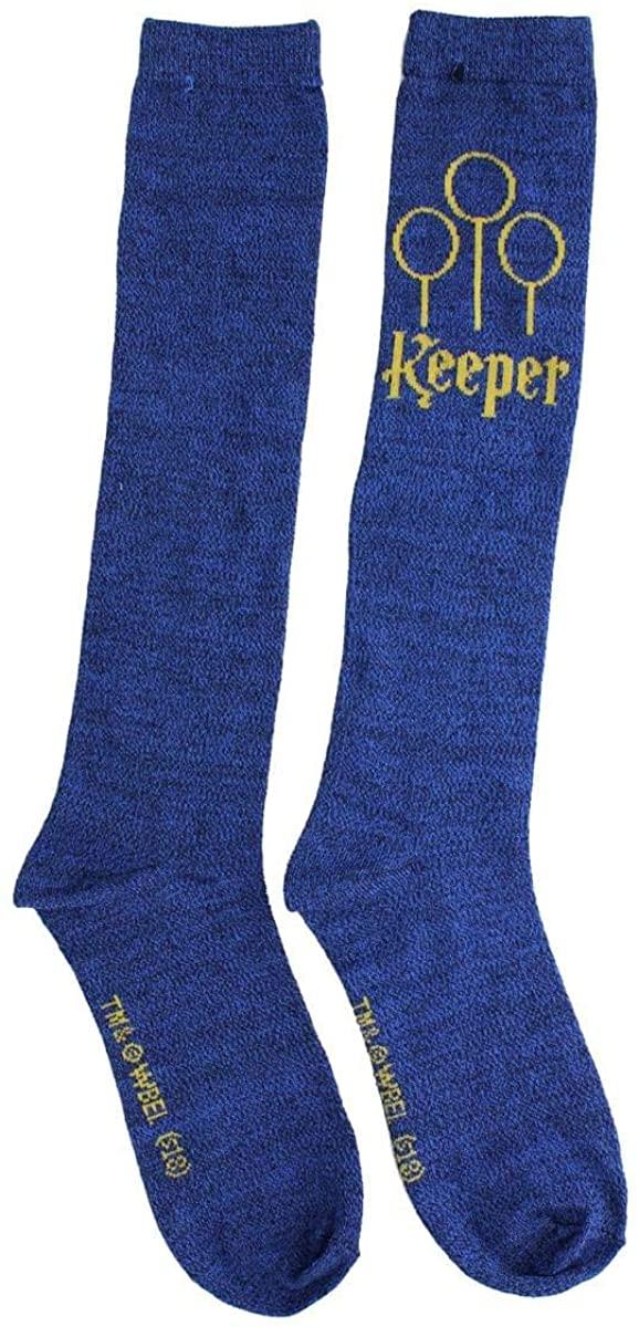 Harry Potter Quidditch Women's Knee High Socks, Keeper (Blue)