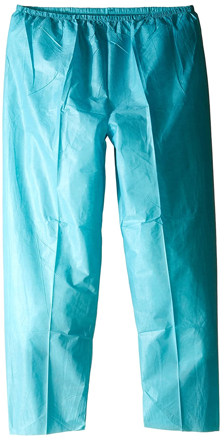 ValuMax 3525E-TE3XL Elastic Waist Easy Breathe Cool and Strong, No-Wrinkle, Disposable SMS Scrub Pant, Teal, 3XL, Pack of 10