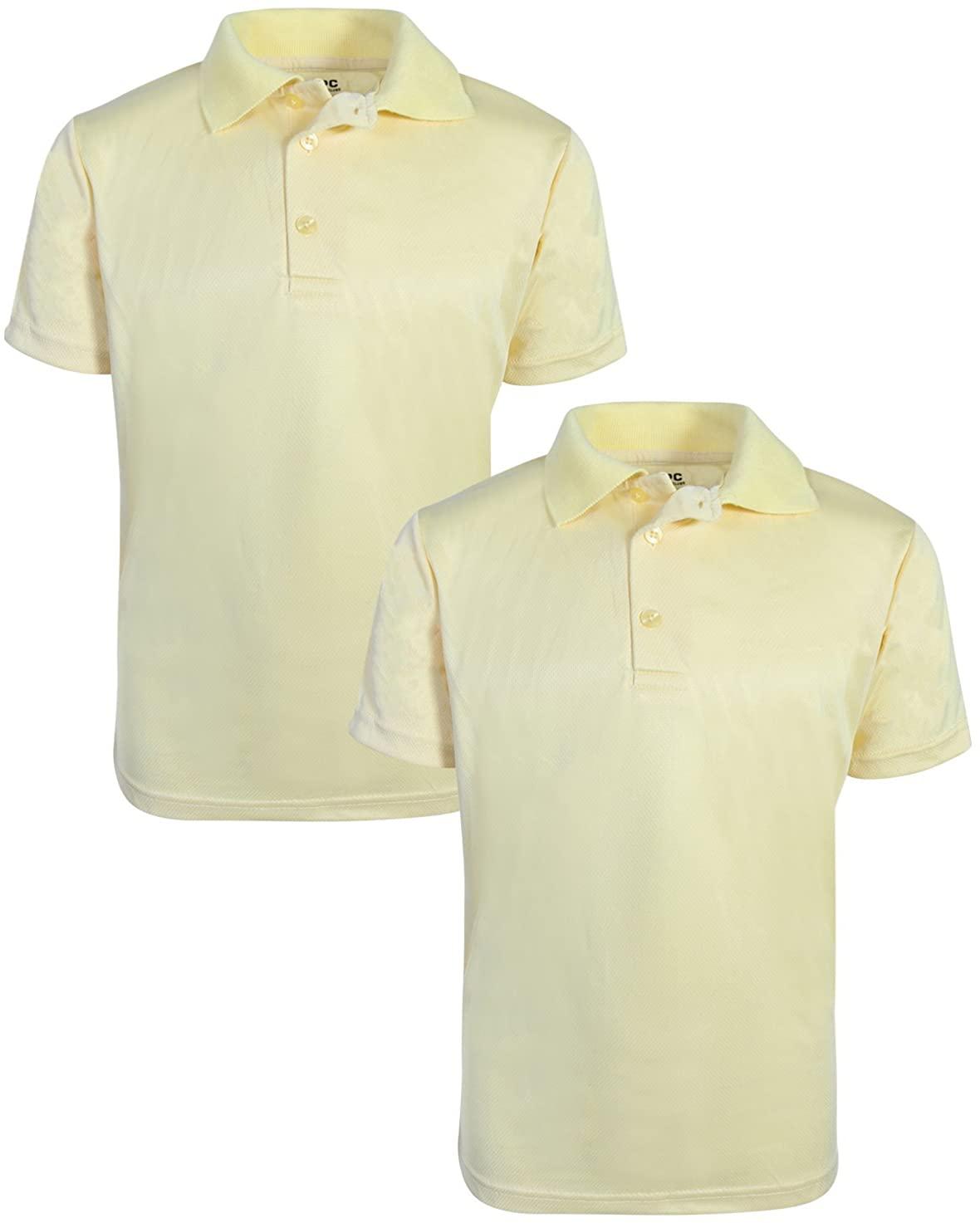 Beverly Hills Polo Club Boys Short Sleeve Dry-Fit Performance School Uniform Polo (2 Pack)