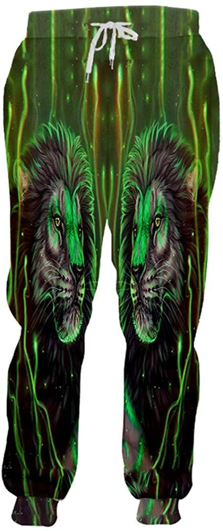 Women/Men's Print Animal Sweatpants Lion King Sweat Pants Sportswears Track Pants