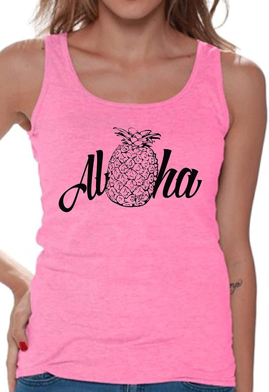 Awkwardstyles Womens Aloha Tank Top Hawaiian Tank + Bookmark