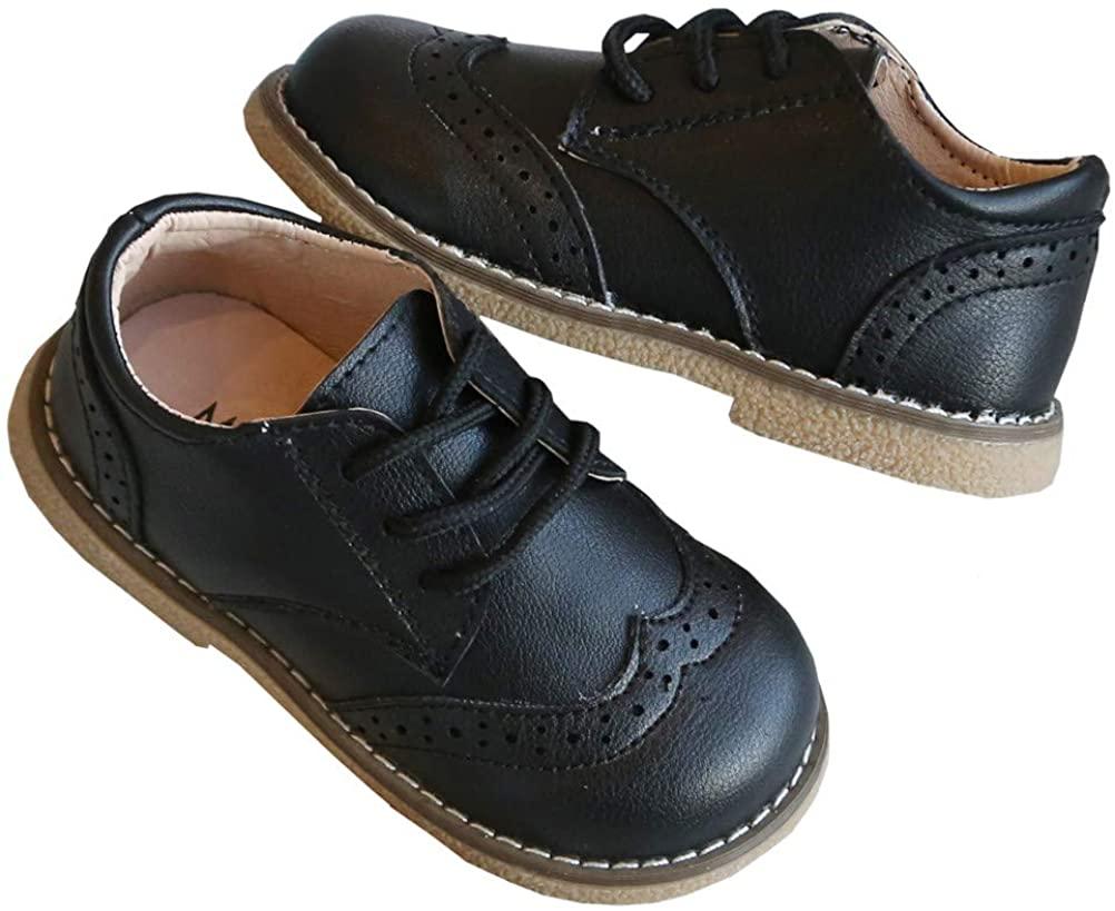DADAWEN Boy's Girl's Classic Lace-Up Uniform Oxford Comfort Dress Shoes Loafer Flats (Toddler/Little Kid)