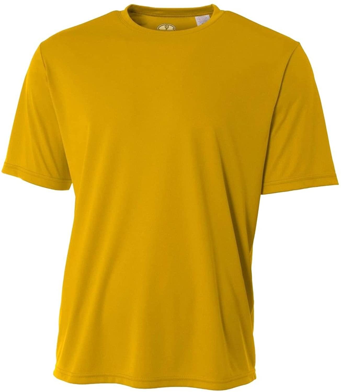 Mens Rash Guard Surf Swimwear Swim Shirt SPF Sun Protection Gold