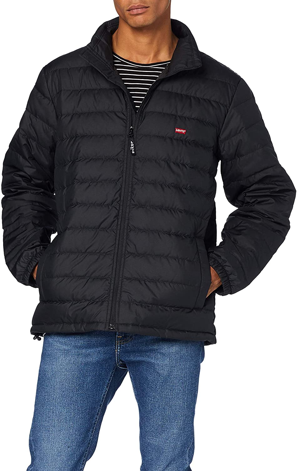 Levi's Men's Down Dehon Puffer Jacket, Black