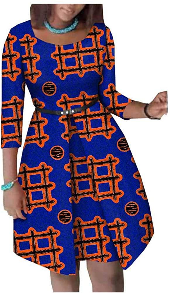 African Dresses for Women Flower Floral Culture Vintage 100% Cotton Party NO Belt