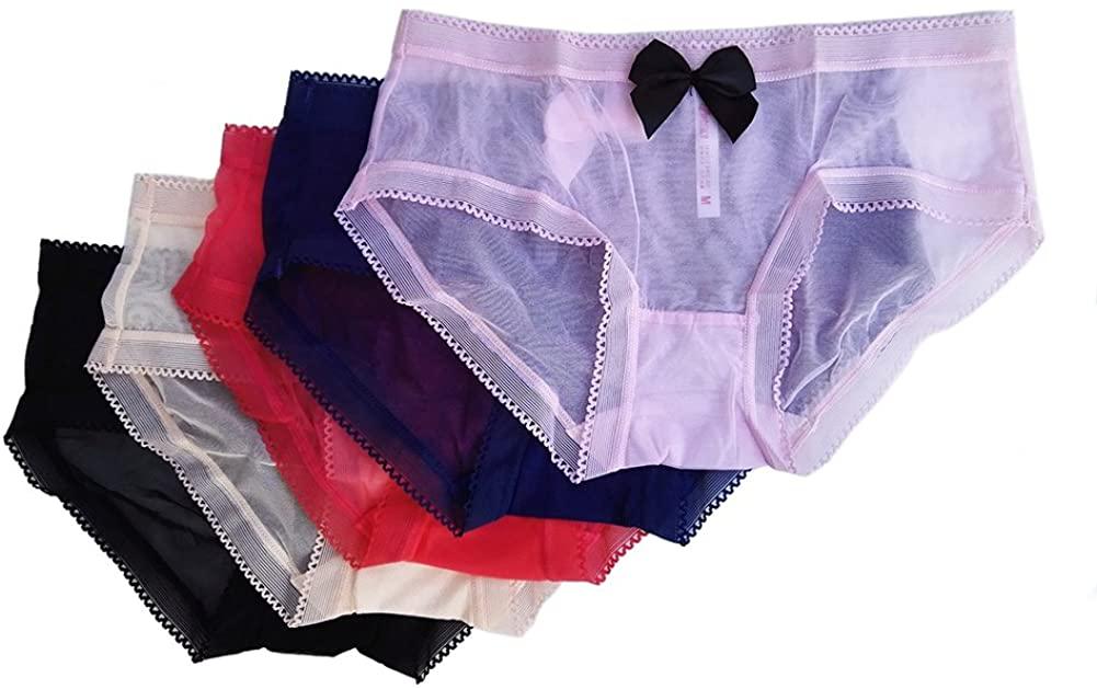 5 Pcs Sexy Women Panties Briefs Underwear Lace lingerie Bikini Low Rise J-00018-M