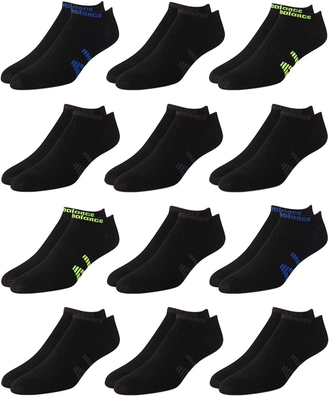 New Balance Men's Breathable Lightweight Low Cut Socks (12 Pack)