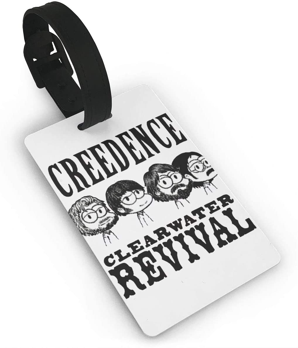 Creedence Clearwater Revival Luggage Tagr Bag Tag Travel Suitcases Id Identifier Baggage Label 1 Piece