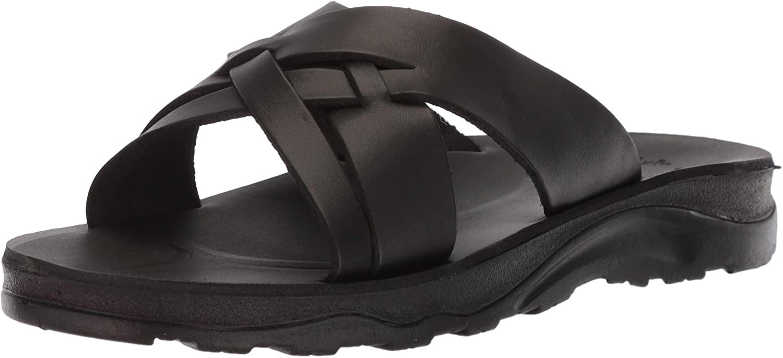 Jerusalem Sandals Mens Jesse Molded Footbed Slide Sandal