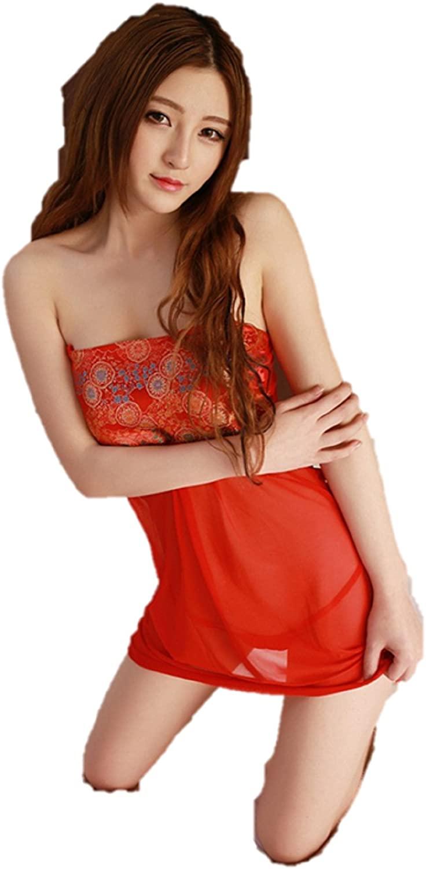 HOT! Women Sexy Lingerie Pole Dance red Chinese Cheongsam Underwear Costumes