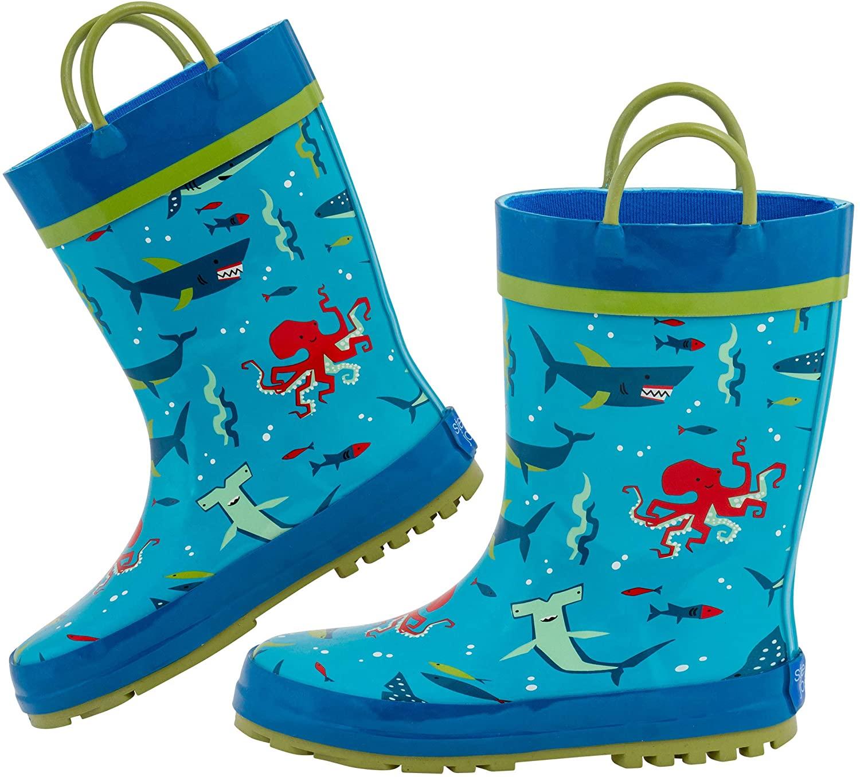 Stephen Josheph Kids' Stephen Joseph Rain Boots Shoe, Shark, 6