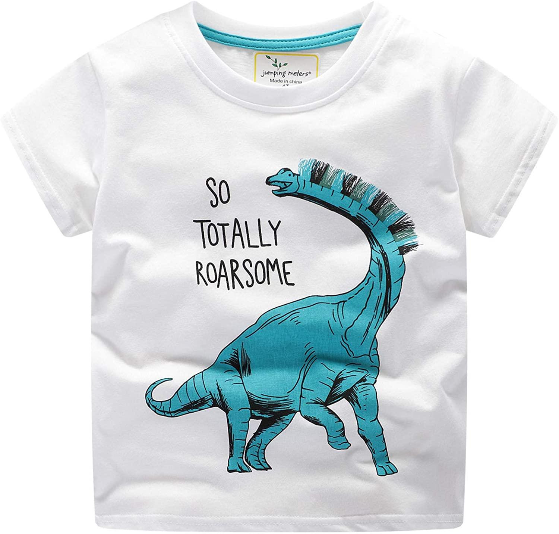 Koupa Kid's Little Girls & Boys Tee Cute Dinosaur Crocodile T-Shirt Short Sleeve Tops