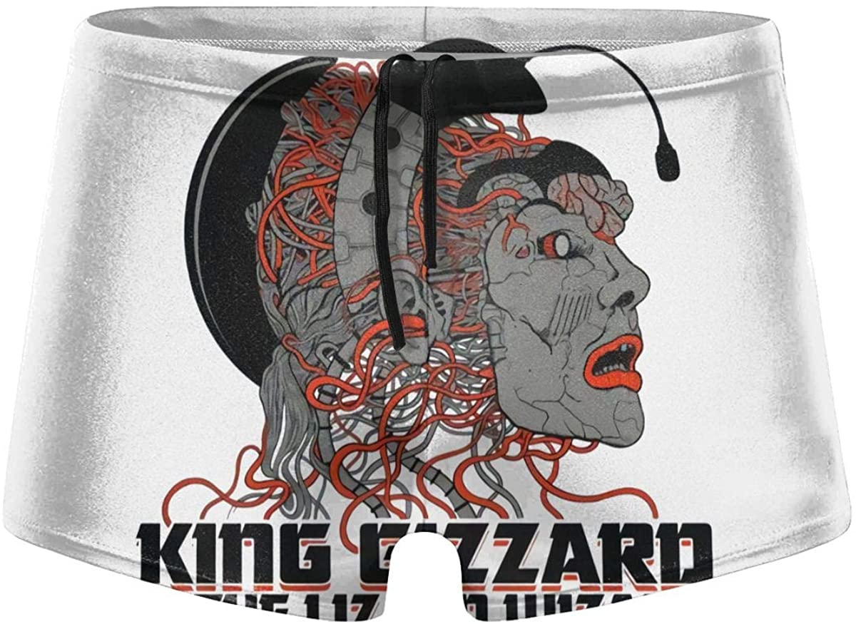 Psf Kinggiz-Zardli-Zard Wi=Zard Men's Comfortable Breathable Quick-Drying Swimsuit Swimming Shorts Black