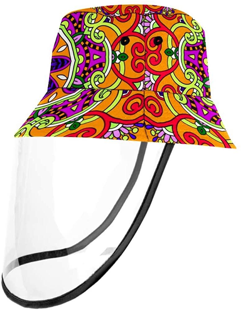 Circle Lace Motif Floral Pattern Casual Hat Fisherman Cap UV Sun Hats for Boys