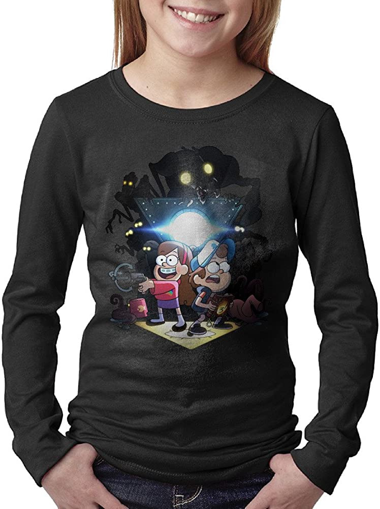 Kid's Design Gravity Falls Sports 100% Cotton Long Sleeve T-Shirt