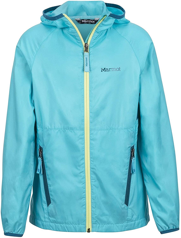 Marmot Girl's Ether Lightweight Hooded Windbreaker Jacket