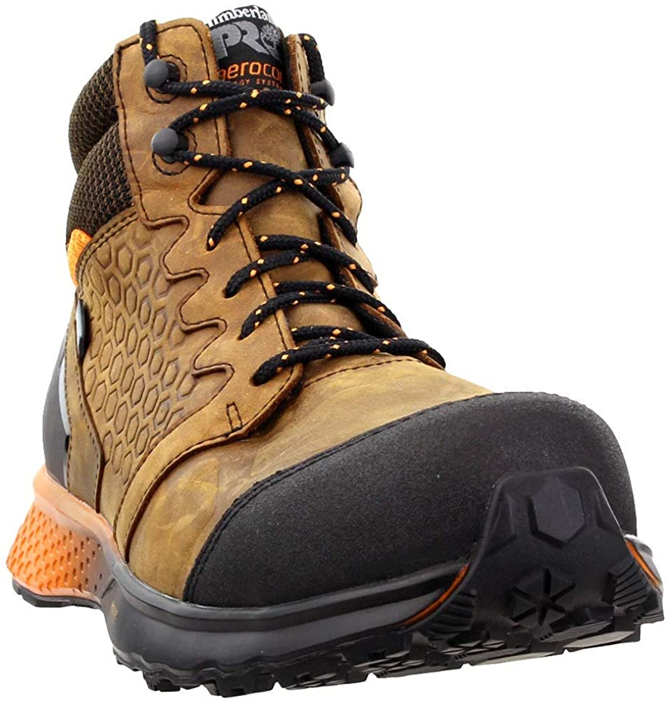 Timberland PRO Mens Reaxion Composite Safety Toe Waterproof Casual Work & Safety Shoes, Brown, 14