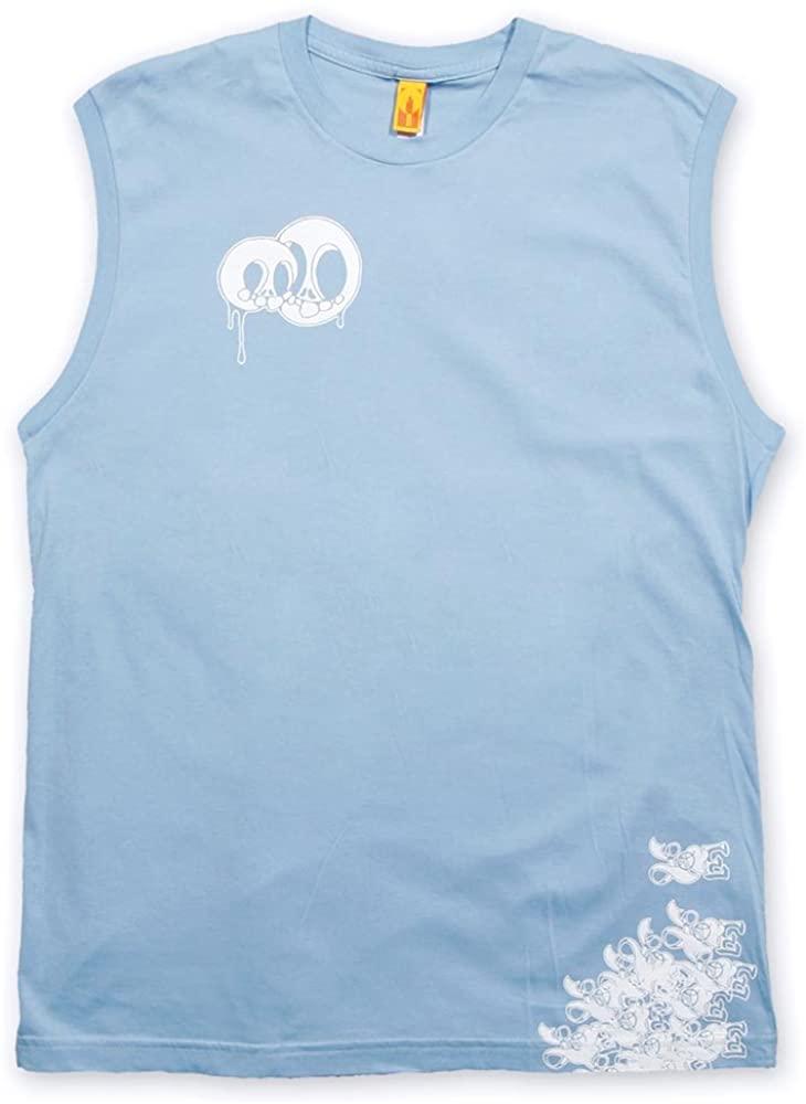 INDVSL Men's Skulls Tank Top Sleeveless Muscle T Shirt