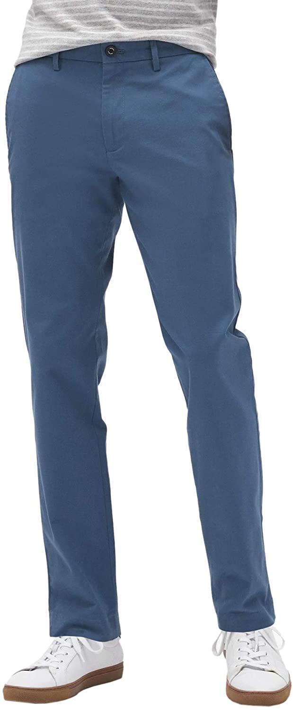 Banana Republic Mens Athletic Slim Leg Mason Stretch Chino Pants Lush Blue