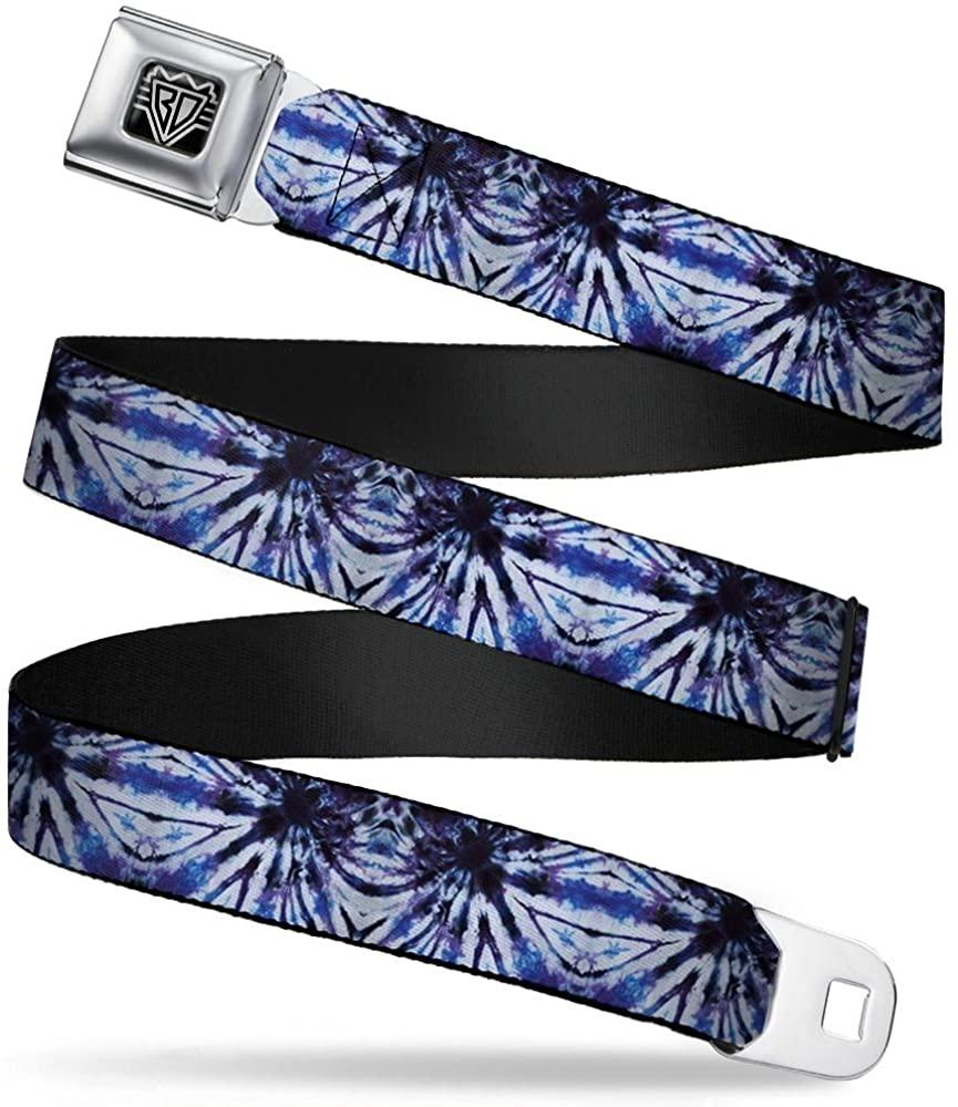 Buckle-Down Seatbelt Belt - Tie Dye Purple/Blue - 1.0