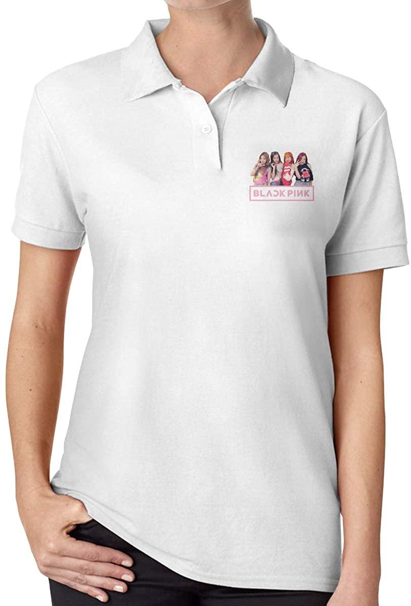Ourjsncvns Blackpink Women's Regular-Fit Cotton Polo Shirt