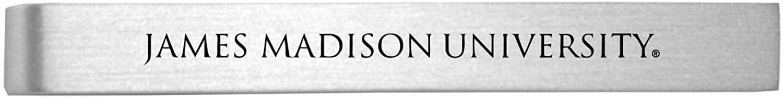 James Madison University-Brushed Metal Tie Clip-Silver