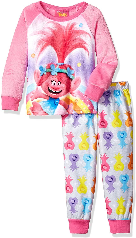 DreamWorks Trolls Girls' 2-Piece Fleece Pajama Set
