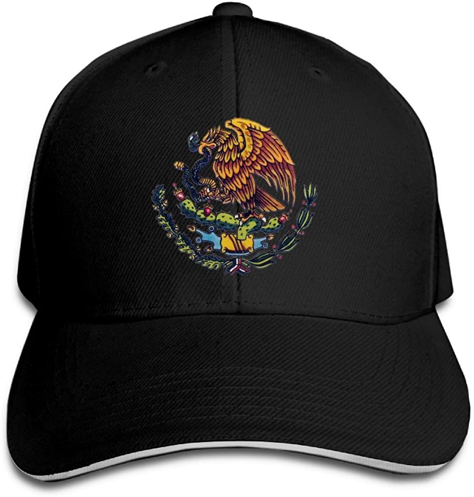 KS-QON BENG Mexican Flag Unisex Fashion Adjustable Sandwich Baseball Cap/Hat Navy