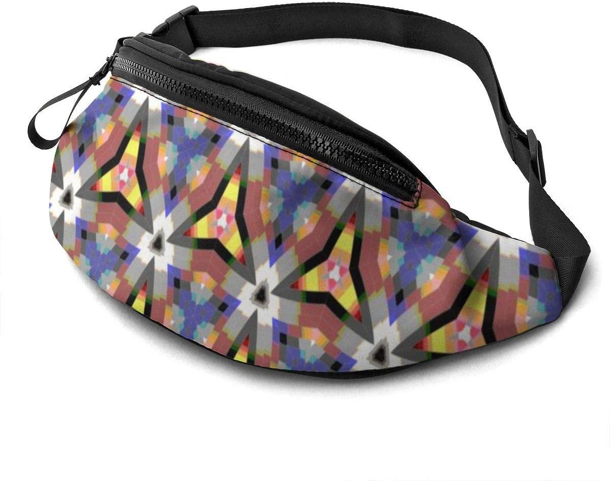 Decorative Triangle Pattern Fanny Pack Fashion Waist Bag