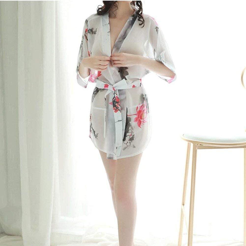 LYS hot Lingeri Nightwear Sleepwear Night Dress Women Kimono Bathrobes Costume Uniform Cosplay