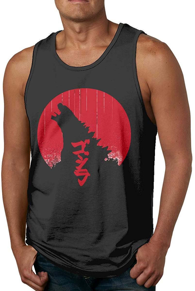 Godzilla Men's Men's Cotton Tank Top Shirt,Worn Outside Or Inside