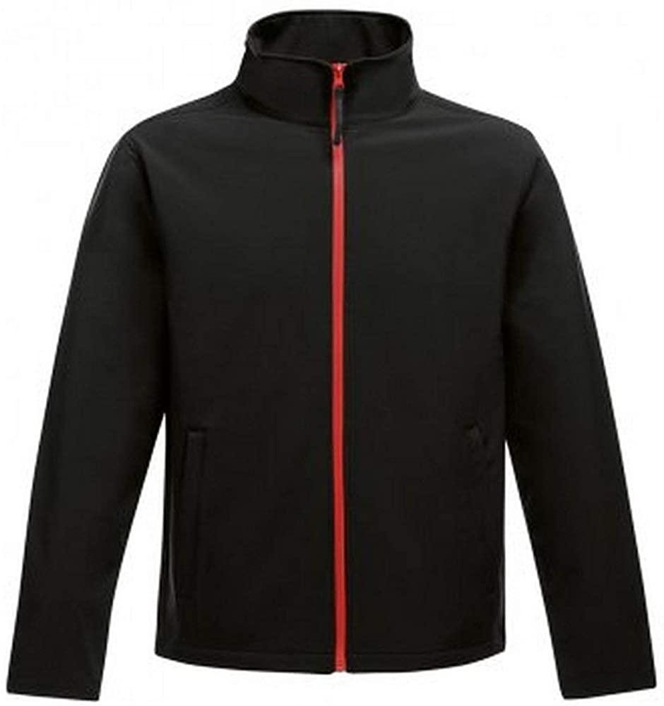 Regatta Standout Mens Ablaze Printable Soft Shell Jacket (XL) (Black/Classic Red)