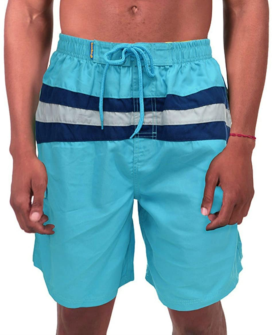 Banana Boat Men's Swim Trunks UPF 50+ Fabric Certified Melanoma Intl Foundation