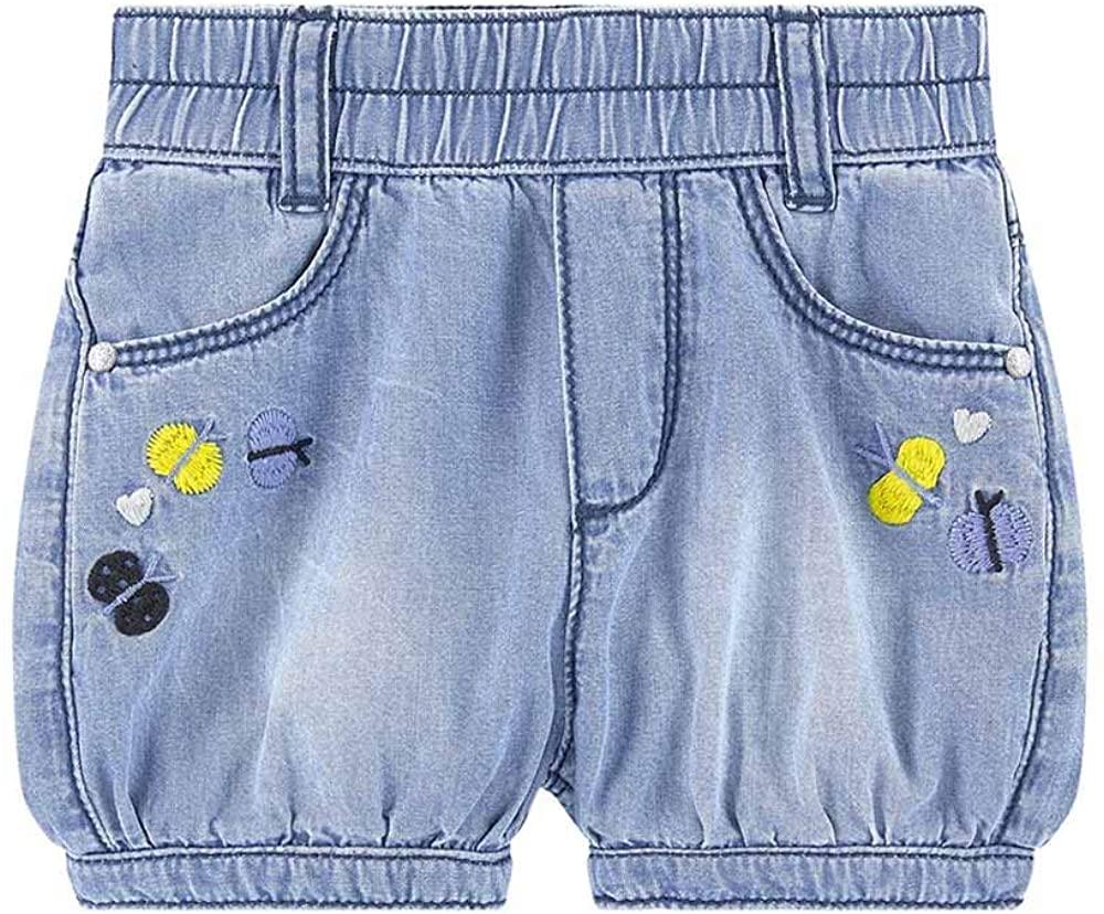 Catimini Cute Embroidered Light Denim Bubble Shorts (12m - 4Y)