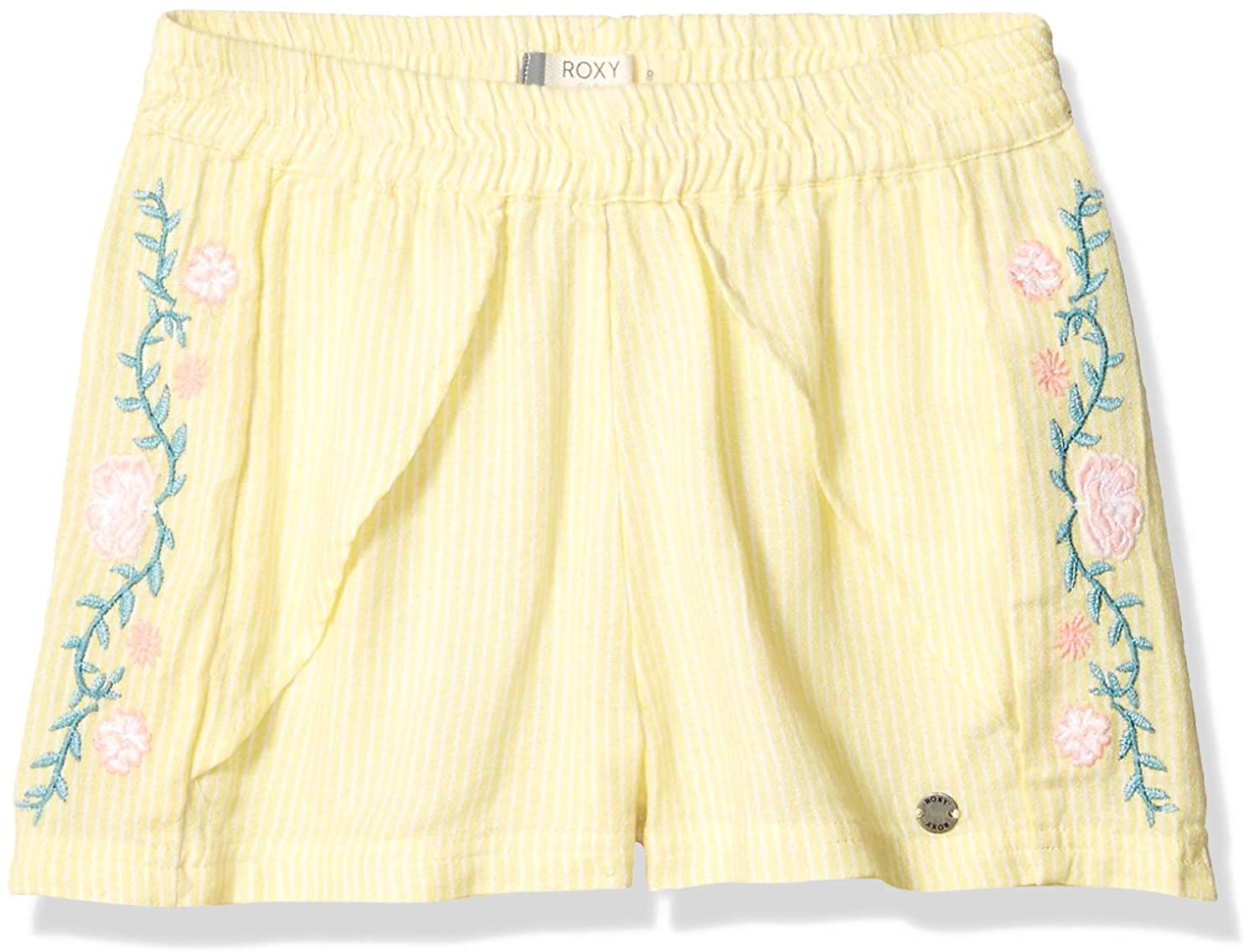 Roxy Girls' Big River Flows Embroidered Shorts