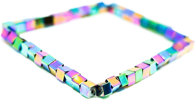 Karelian Heritage Multicolor Hematite Protection Bracelet, July Birthstone Jewelry, Solar Plexus Chakra Bracelet BO117