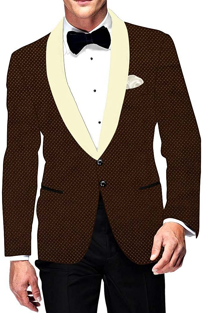 INMONARCH Mens Slim fit Casual Brown Velvet Blazer Sport Jacket Coat Classic Look VB015621