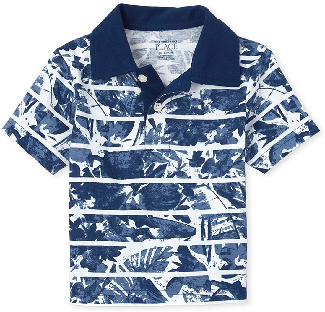The Children's Place Boys' Short Sleeve Printed Polo