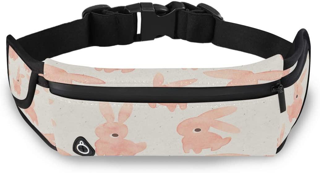 Cute Kawaii Rabbit Bunny Girls Waist Bag Designer Waist Pack Man Fashion Bag With Adjustable Strap For Workout Traveling Running