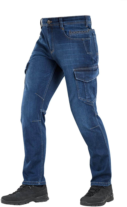 M-Tac Tactical Pants Men Denim Jeans Regular Fit