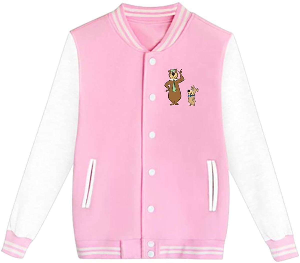 AHUAHUA Yogi Bear and Boo Boo Unisex Youth Boys and Girls Sweatshirt Baseball Uniform Jacket Sport Coat